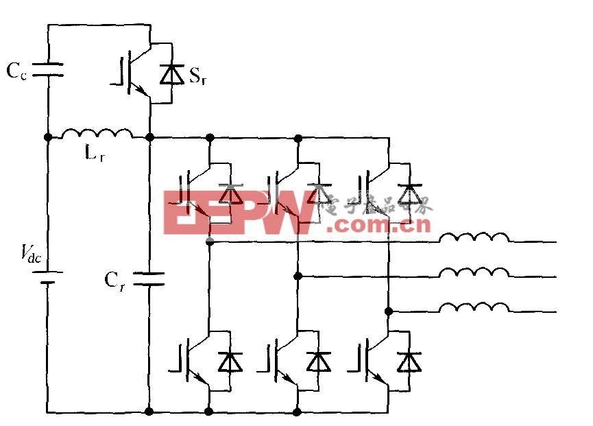 有源嵌位谐振直流环节逆变器功率电路