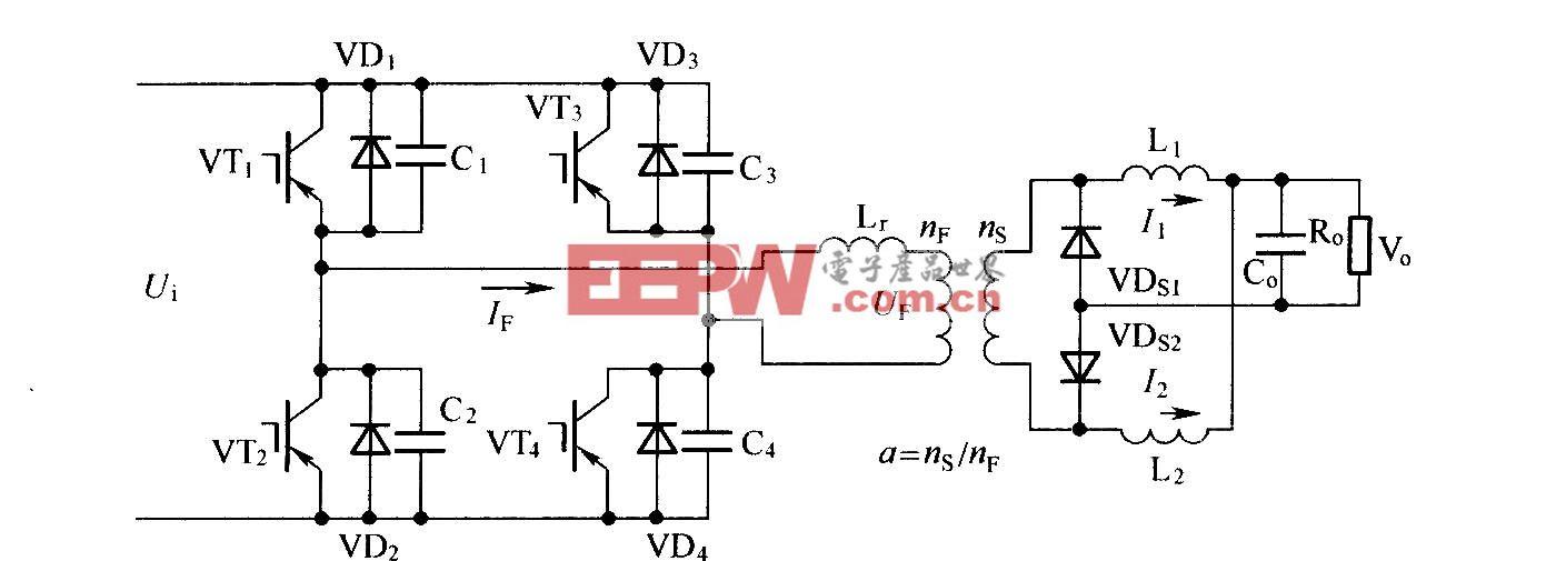 改进型移相全桥ZVS主电路