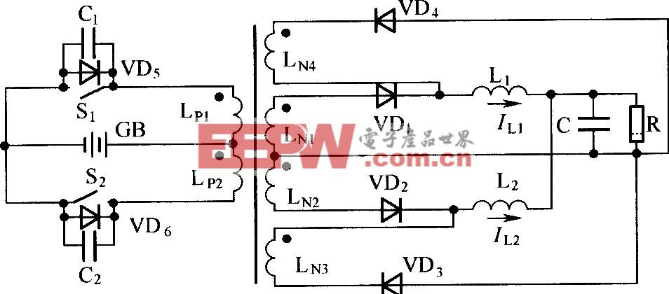 电感分裂式推挽换向软开关电路