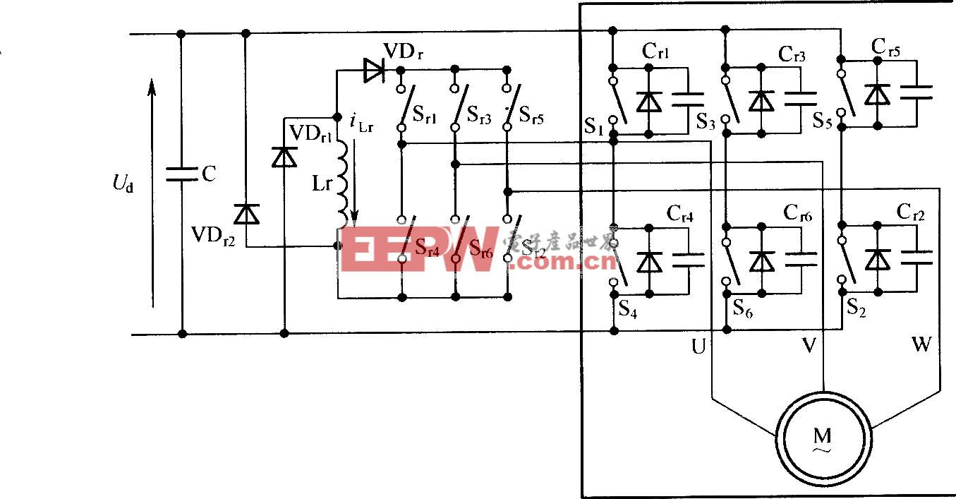 ZVT-PWM三相变频电源主电路结构示意图