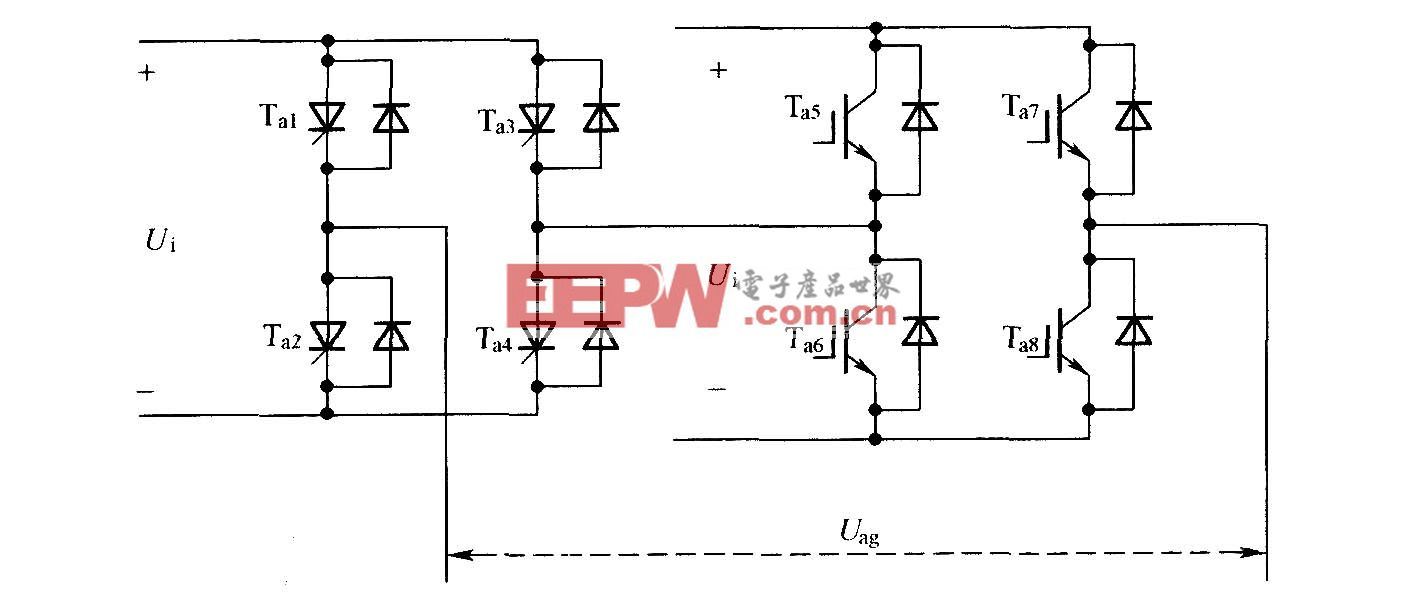 不对称的混合级联型多电平变换器单相拓扑结构
