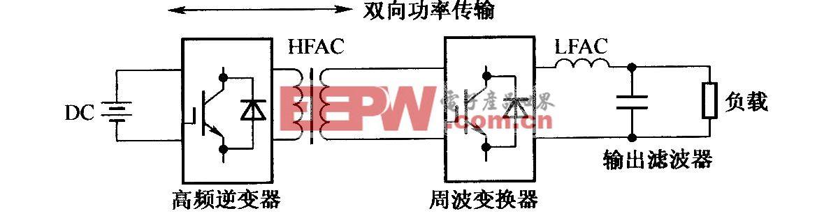 双向电压源高频链逆变器框图