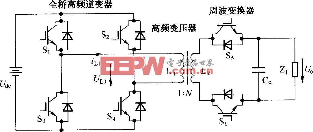 全桥电流源高频链逆器的拓扑结构