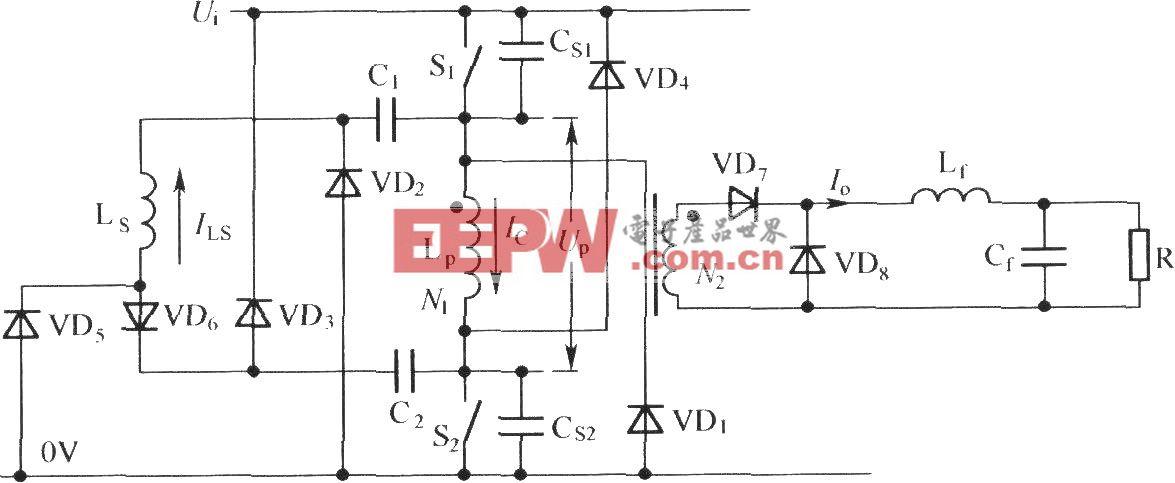 无损缓冲双管串联单正激电路