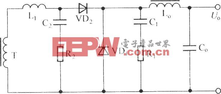 包括两个RC电路的正激变换器
