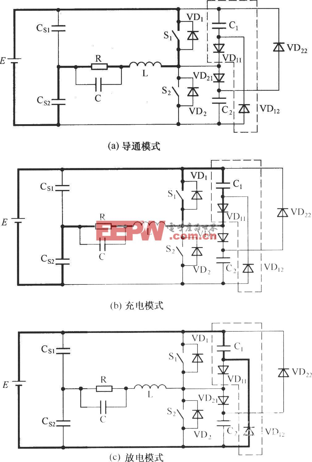 C-2D型无源无损缓冲电路的工作模式