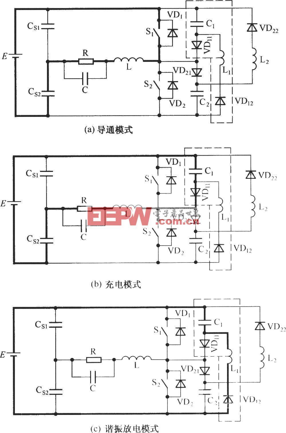 C-L-2D型无源无损缓冲电路的工作模式