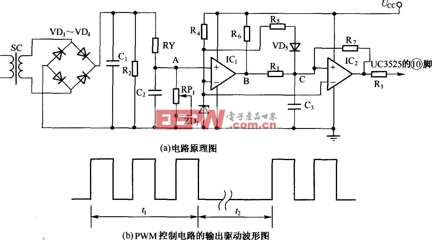 利用电流传感器检测IGBT过流的短路保护电路