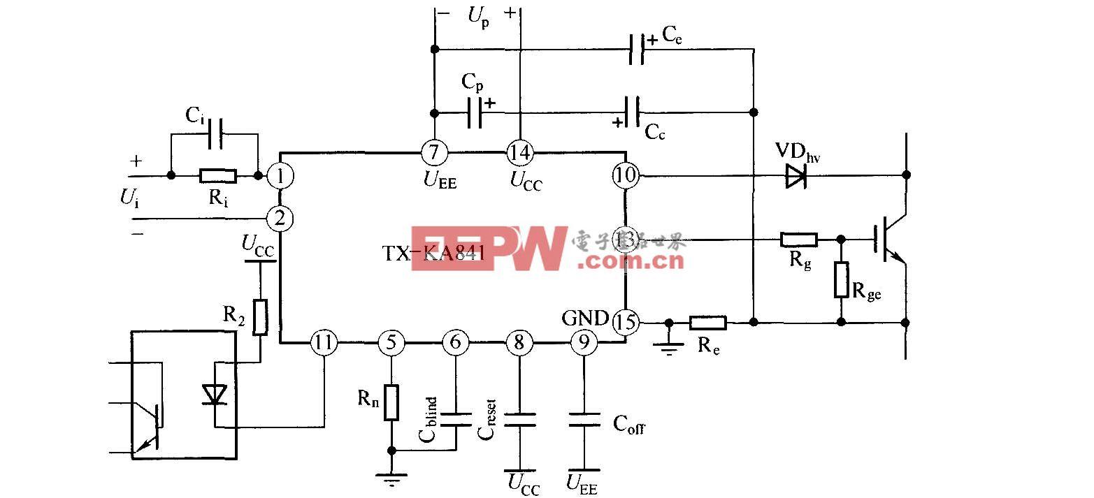 TX-KA841 IGBT驱动器的应用连接图
