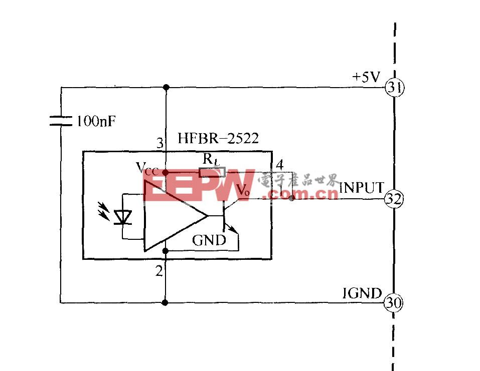 光纤接收器布线图 IGBT