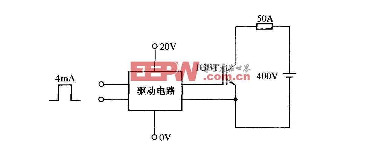 测试EXB850过流波形的电路