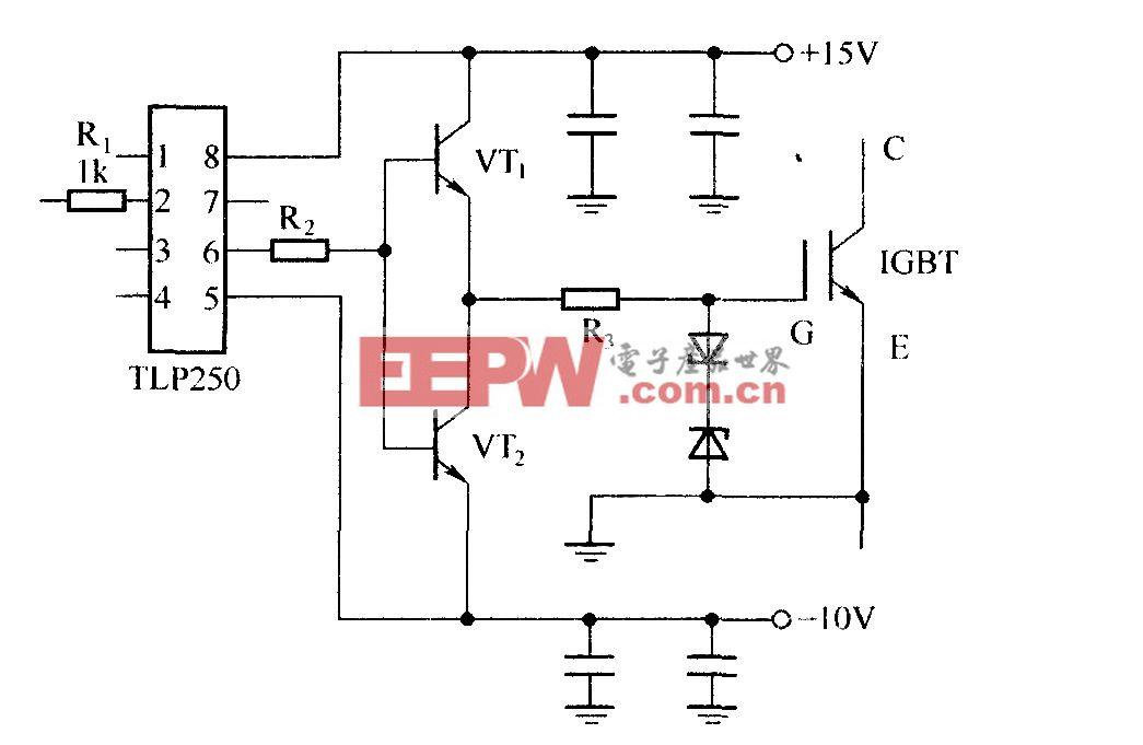 由集成電路TLP250構成的驅動器