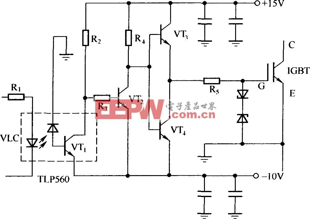 由分立元件构成的lGBT驱动电路
