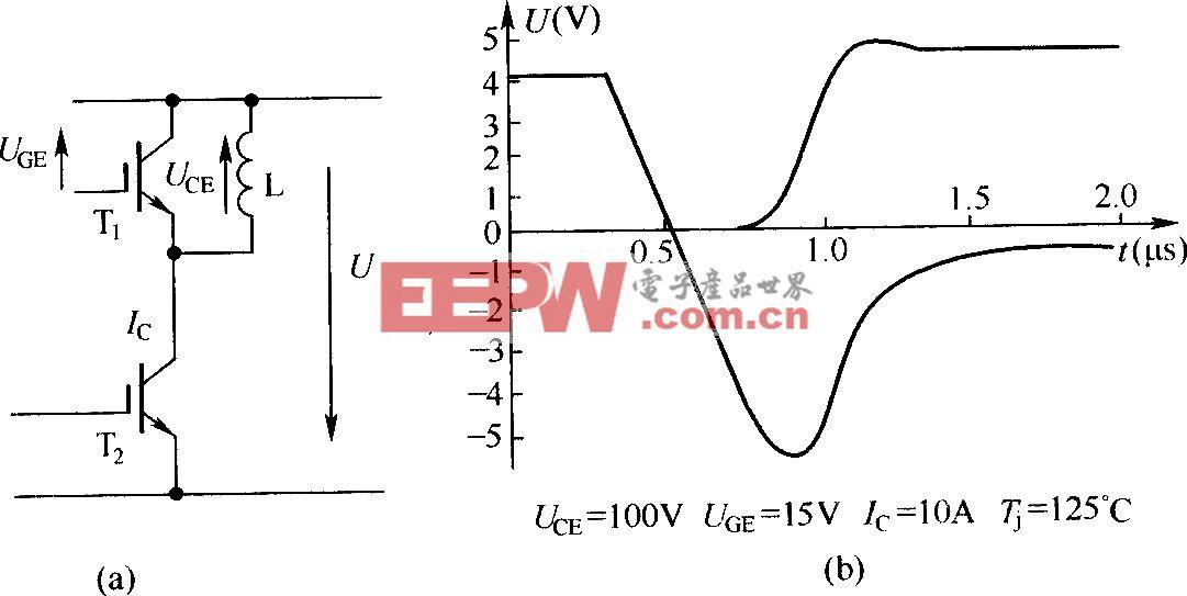改进的硬开关斩波电路中的IGBT关断电压波形和斩波电路