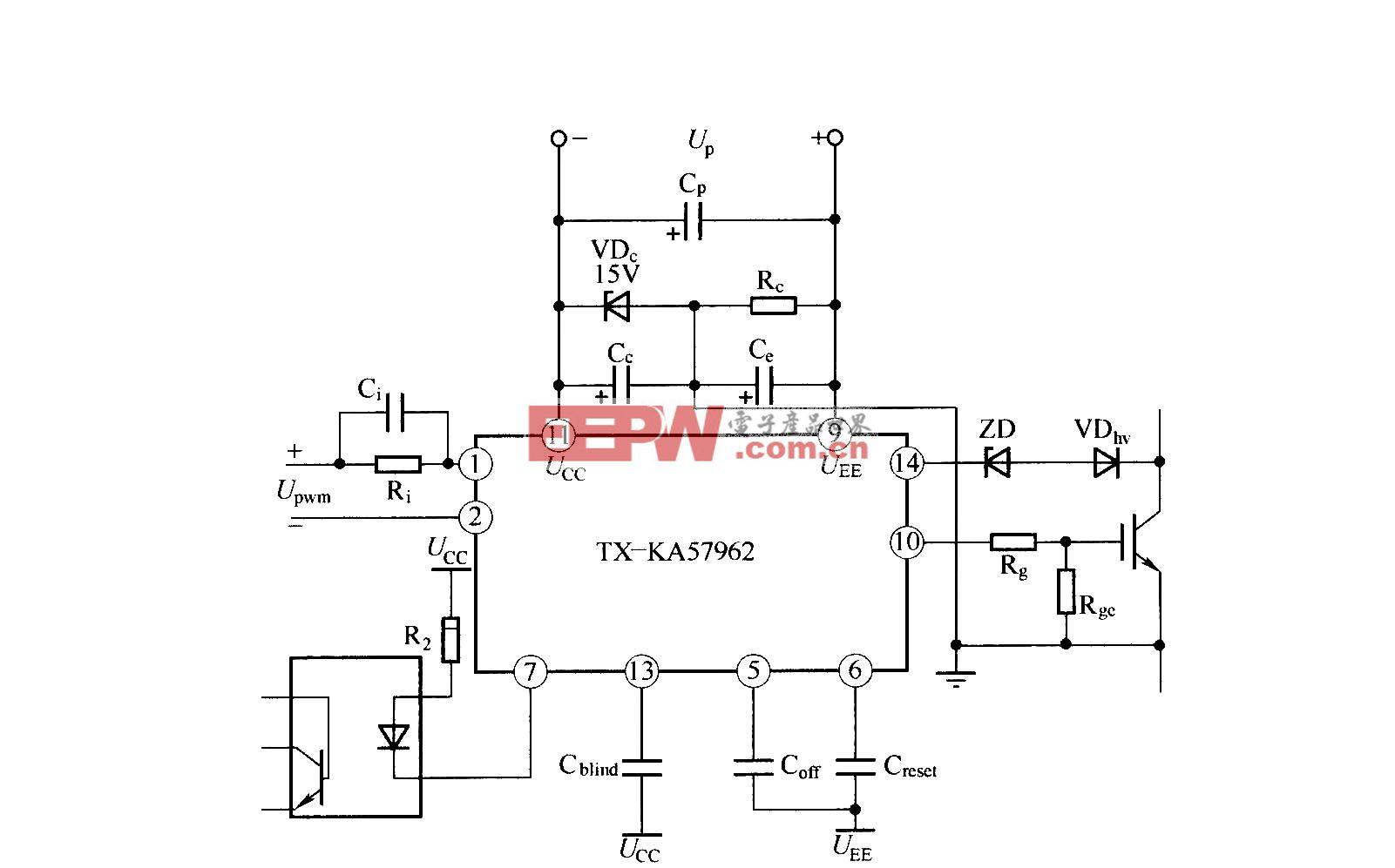 TX―KA57962 IGBT驱动器的应用连接图