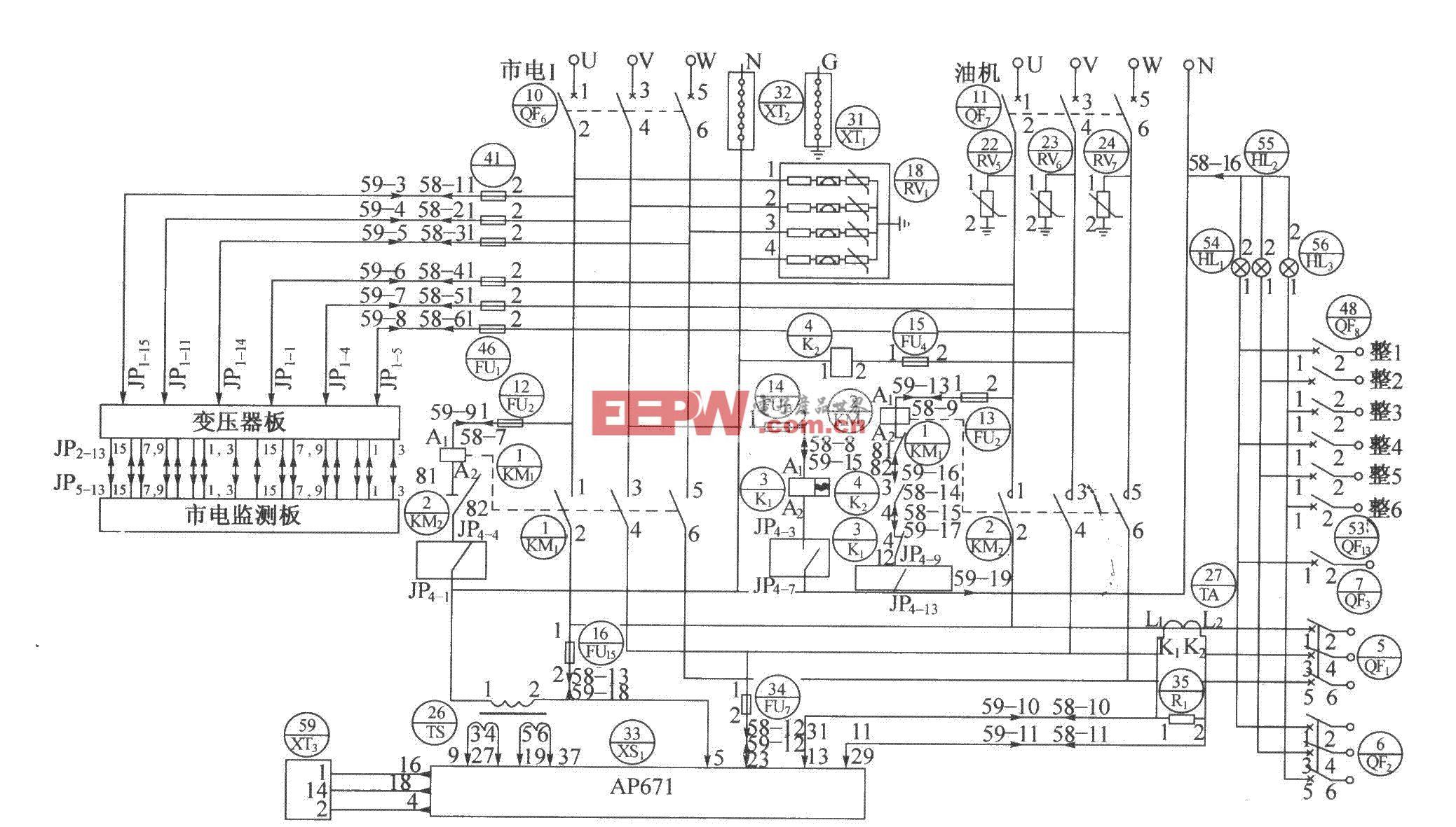 DUM23-48/300II交流配电单元电原理图