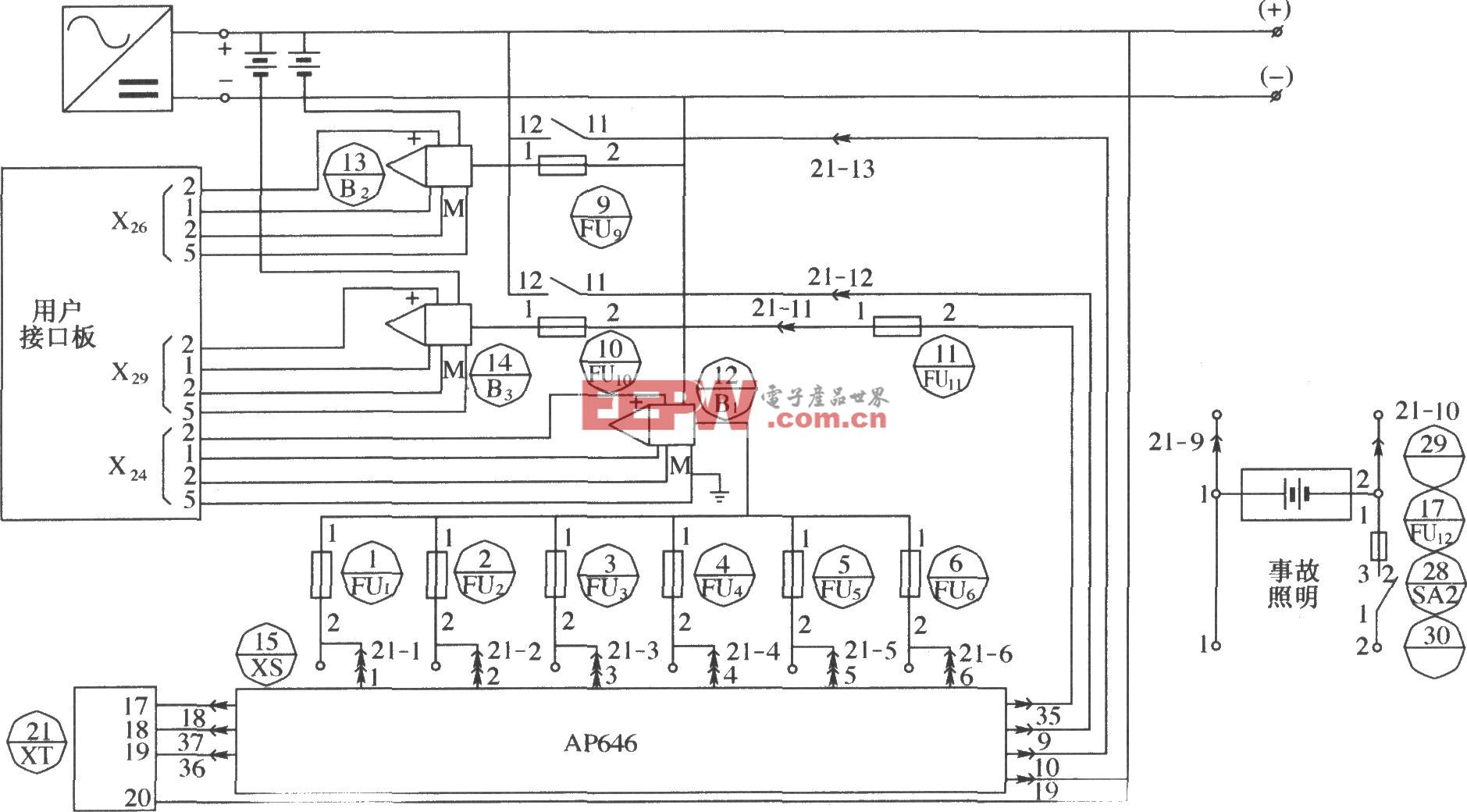DUM23-48/300Ⅱ直流配电单元电原理图