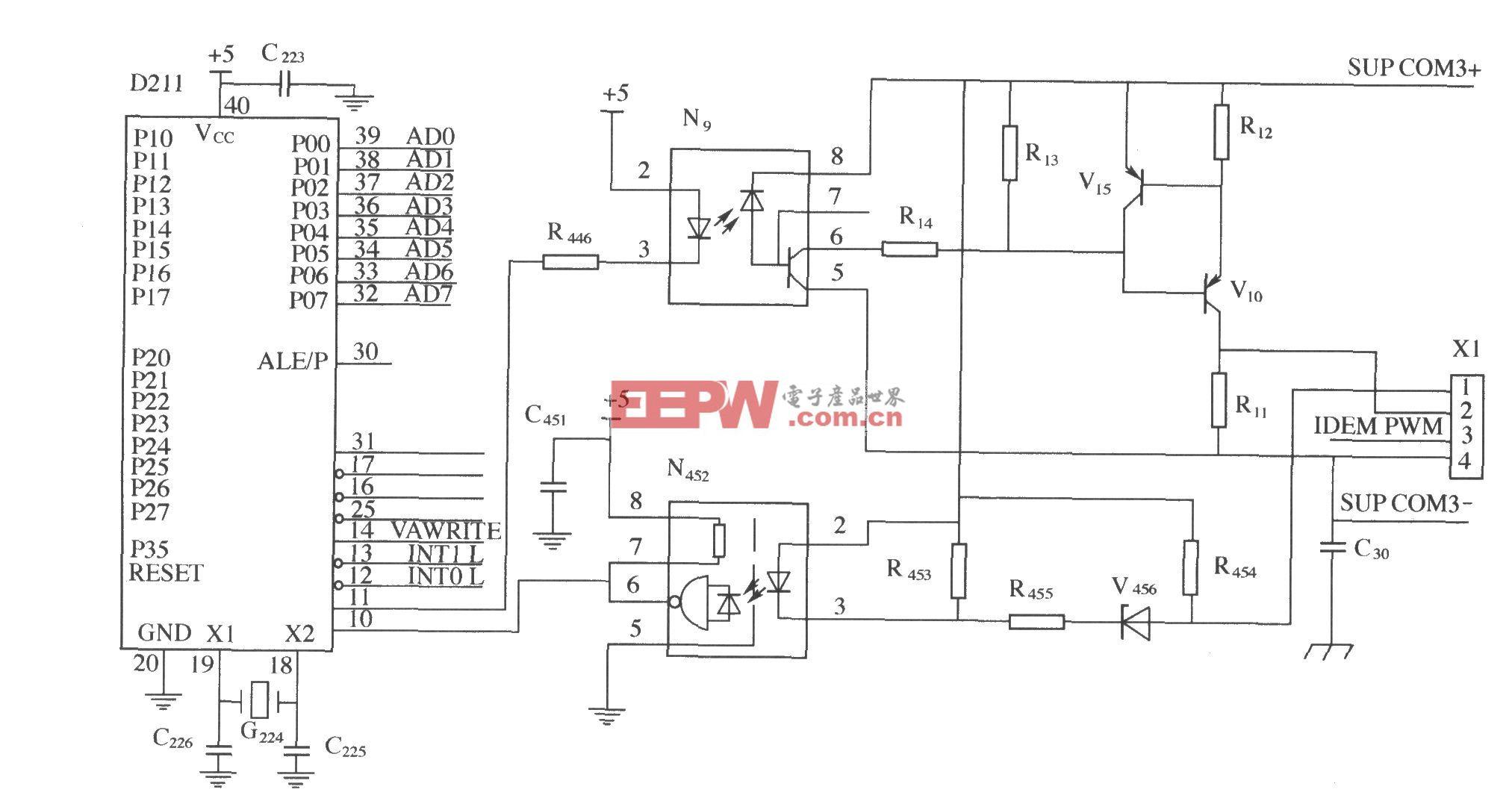 监控模块与整流模块的通信电路
