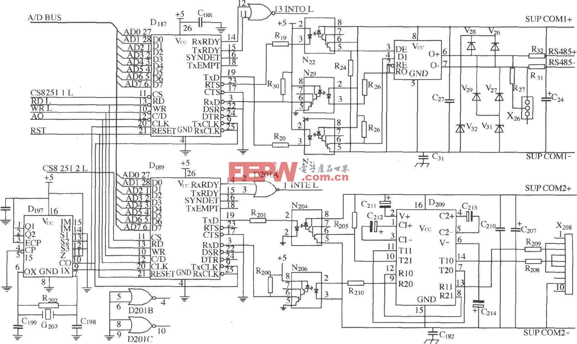 DK04监控模块与计算机通信接口电路