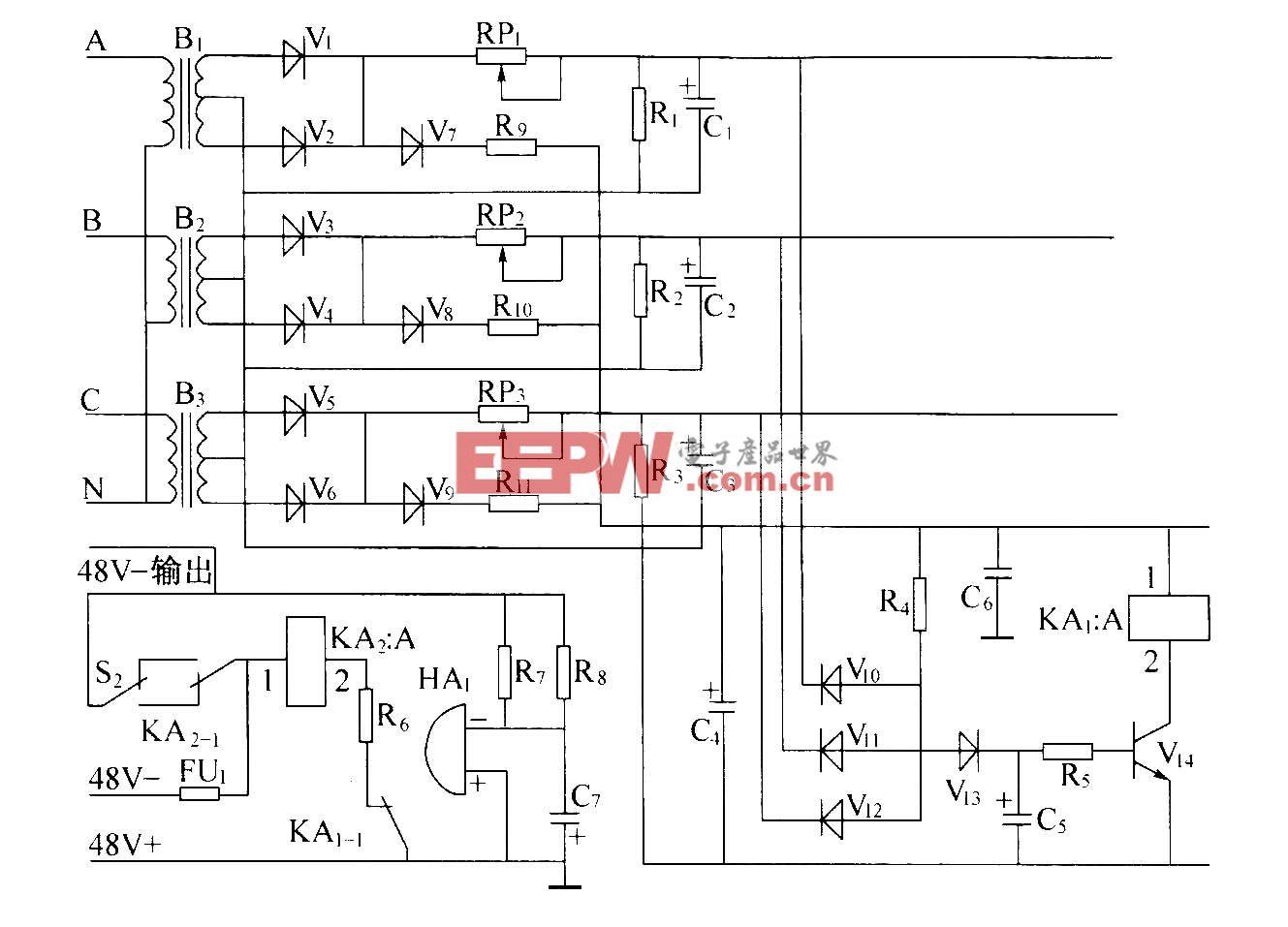 交流配电单元监测告警电路(P50-II)