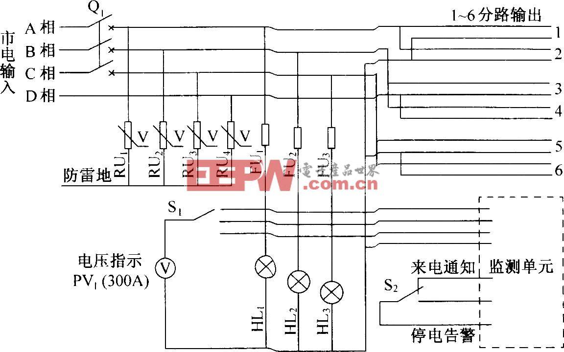 UT07交流配电箱电原理图