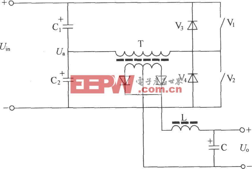半桥式变换器电原理图