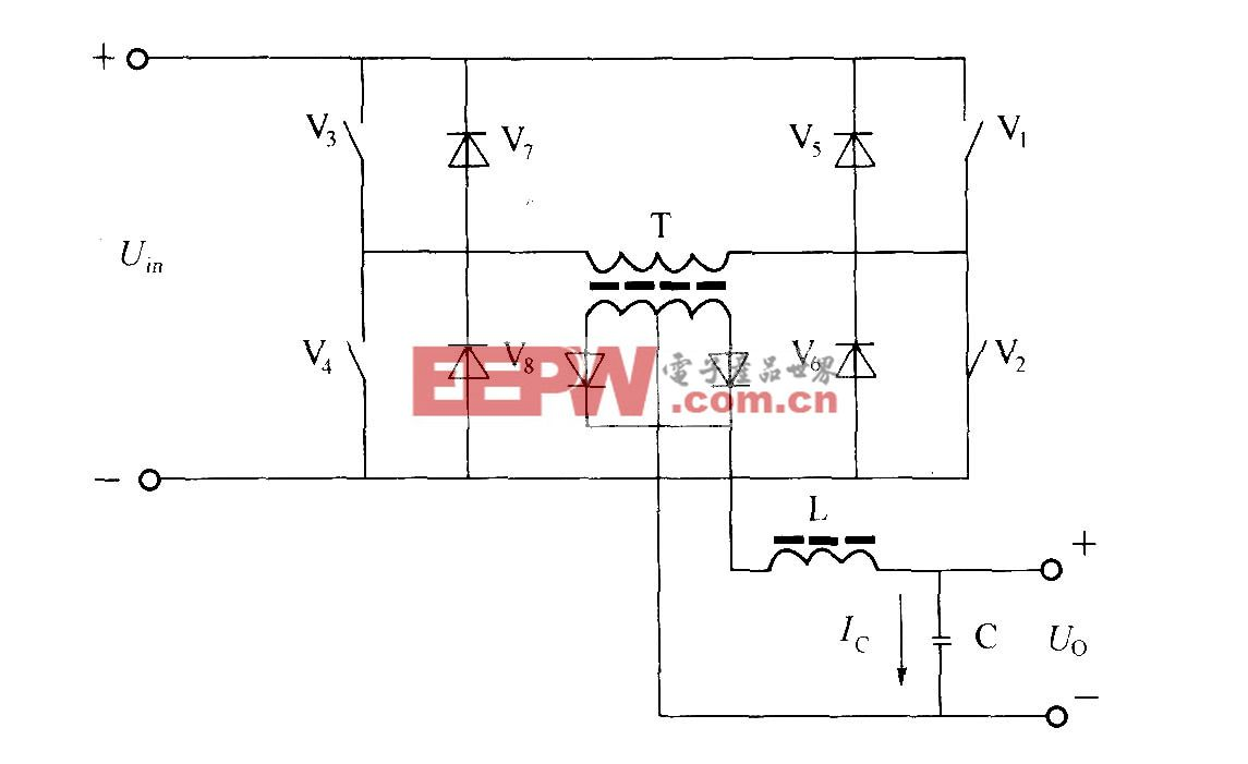 全桥式变换器电原理图
