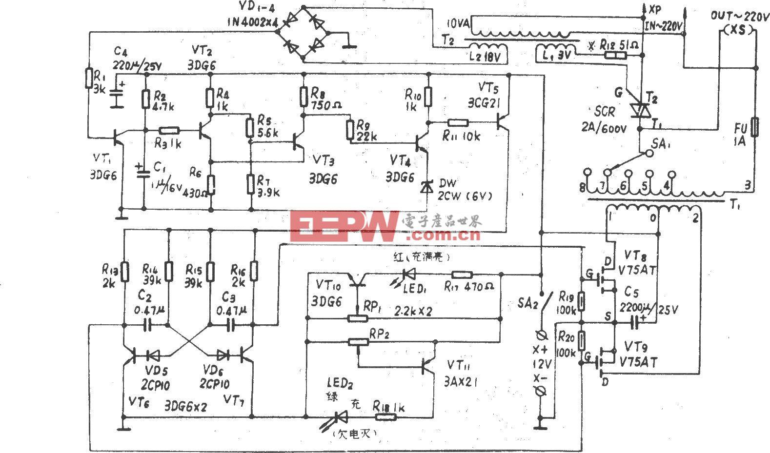 100VA自动控制高效应急电源