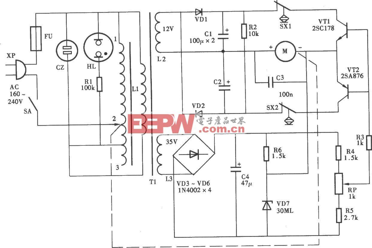 得寶SVD-25R型穩壓電源電路