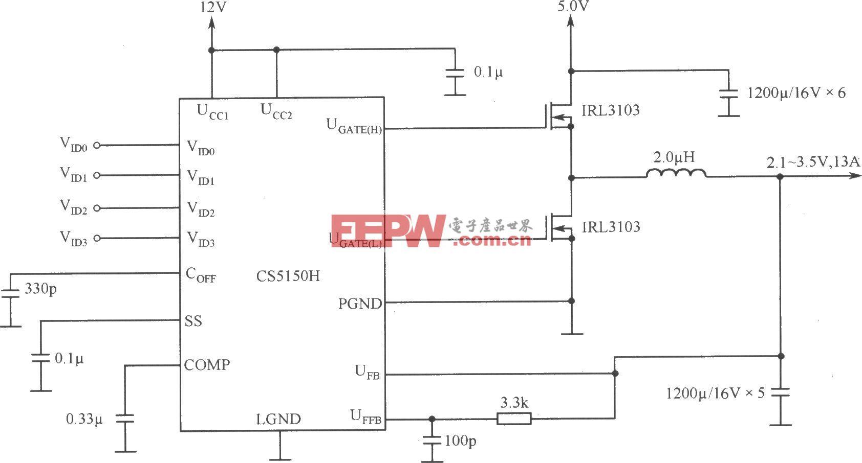 程控开关电源用于片心逻辑―Pentium Pro处理器