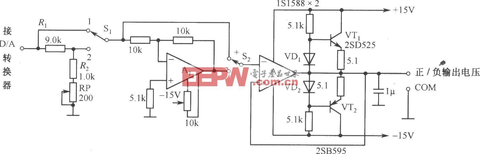 DAC-80-CCD-V构成的自动可逆控制的电源电路