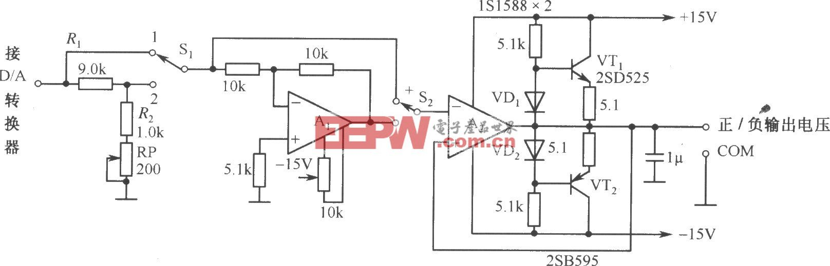 DAC-80-CCD-V構成的自動可逆控制的電源電路