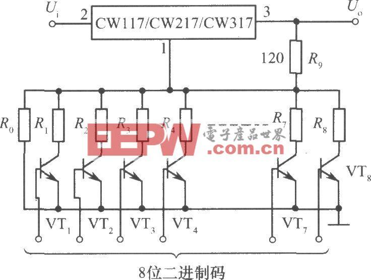 CW117/CW217/CW317构成数字控制的可调集成稳压电源