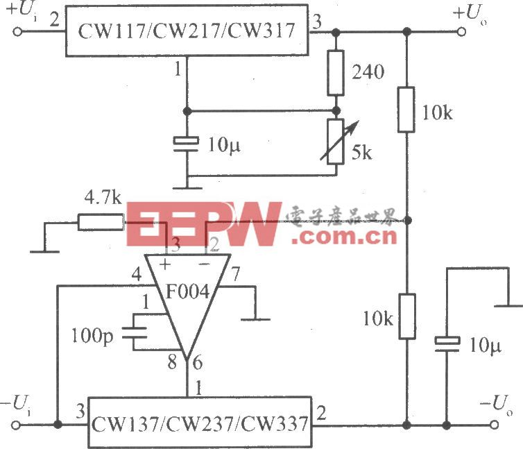 CW117/CW217/CW317构成正、负输出电压跟踪的集成稳压电源之二