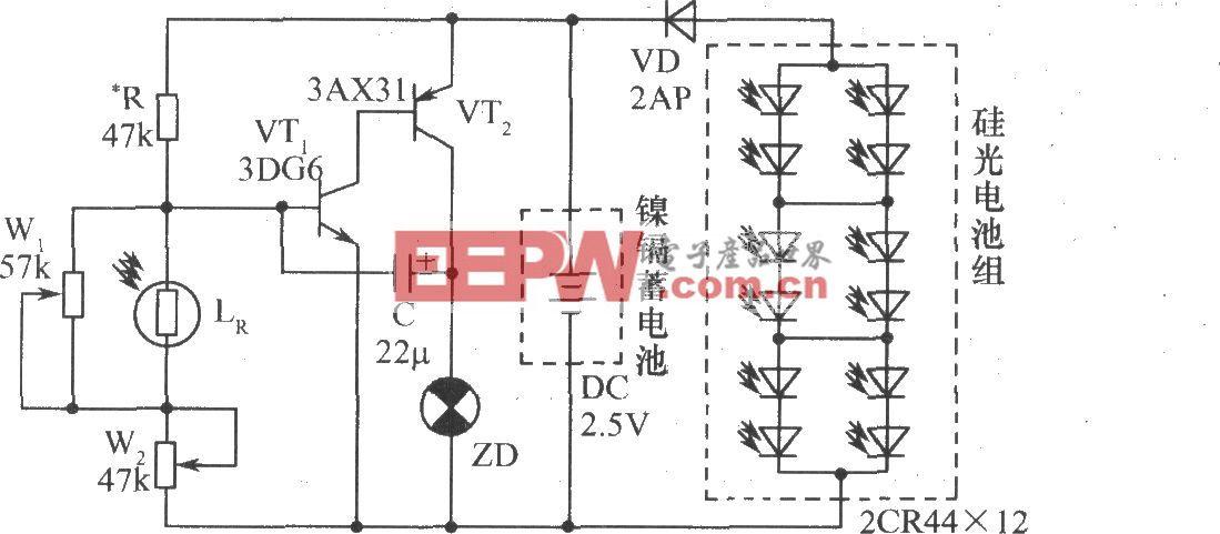 硅光电池组成的光控闪光装置