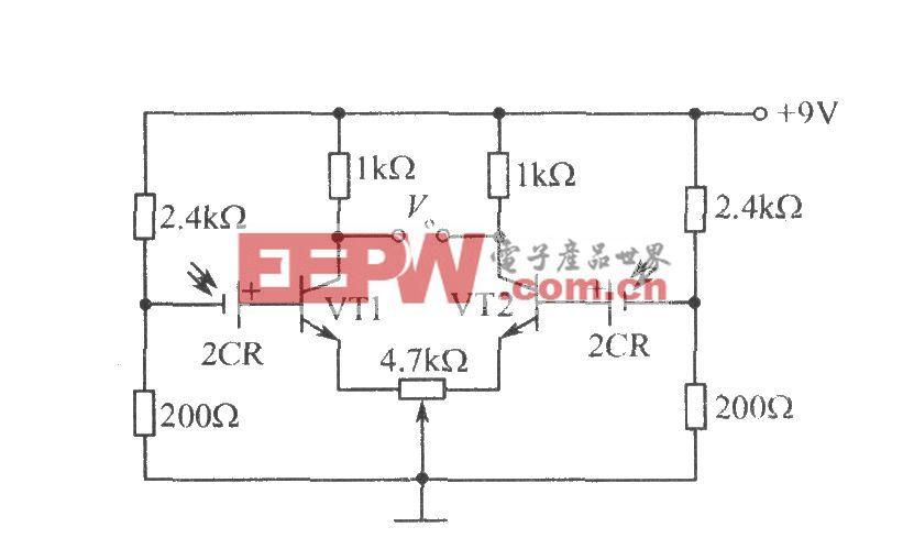 硅光电池组成的光电跟踪电路