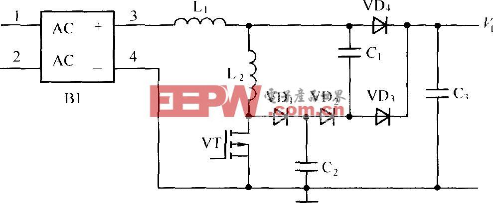 PFC無損吸收主電路