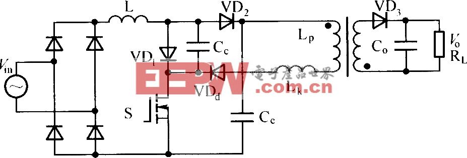 带有再生钳位功能的Boost反激型单级隔离式PFC变换器