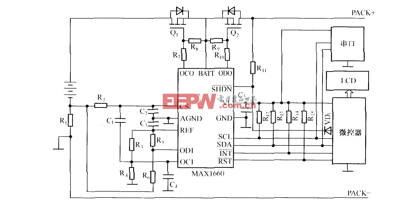 由MAXl660構成的充放電系統