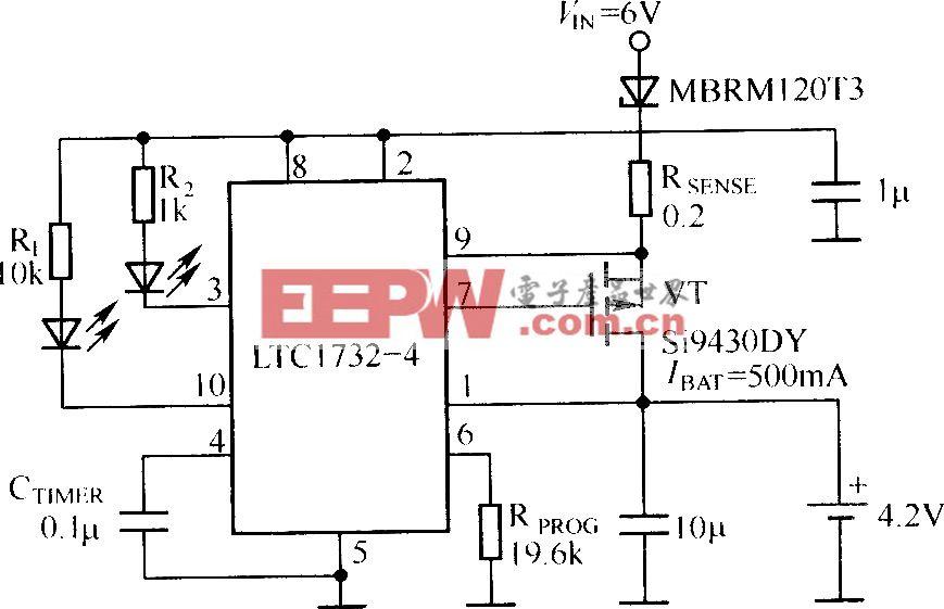 用LTC732作为控制器为单节4.2伏锂离子电池充电