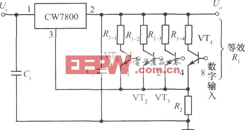 数控集成稳压电源电路原理图