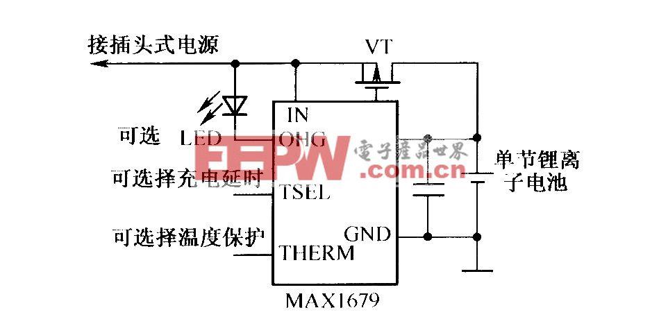由MAXl679组成的充电电路
