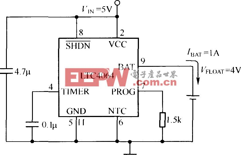 LTC4064构成的充电电路