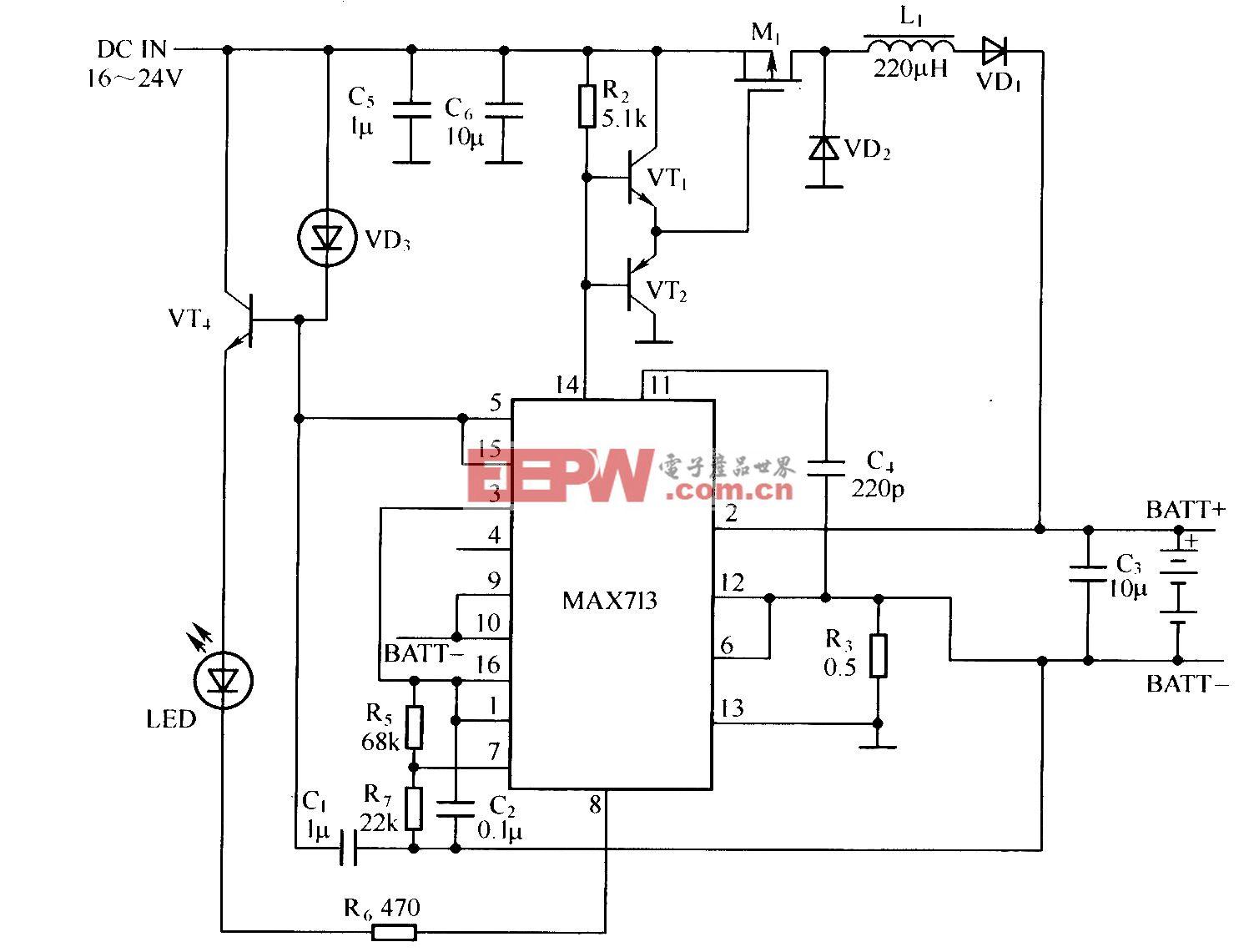 MAXTl3开关模式应用电路