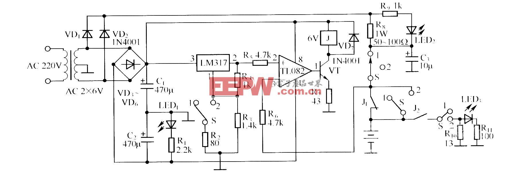 镉镍电池自动充放电器的电路