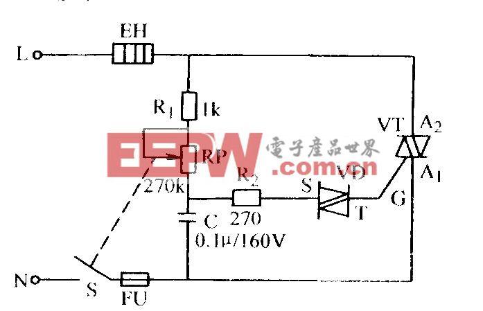 双向晶闸管无级调压电路