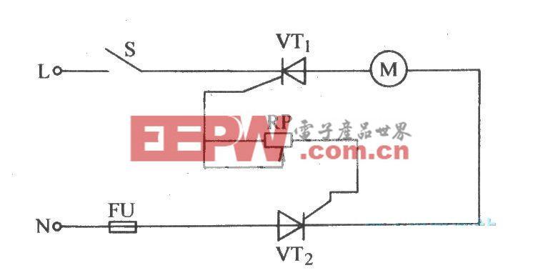 用两只普通晶闸管组装的无级调压电路