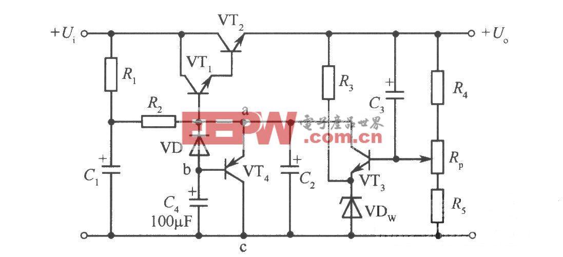 采用晶体管构成的软启动电路