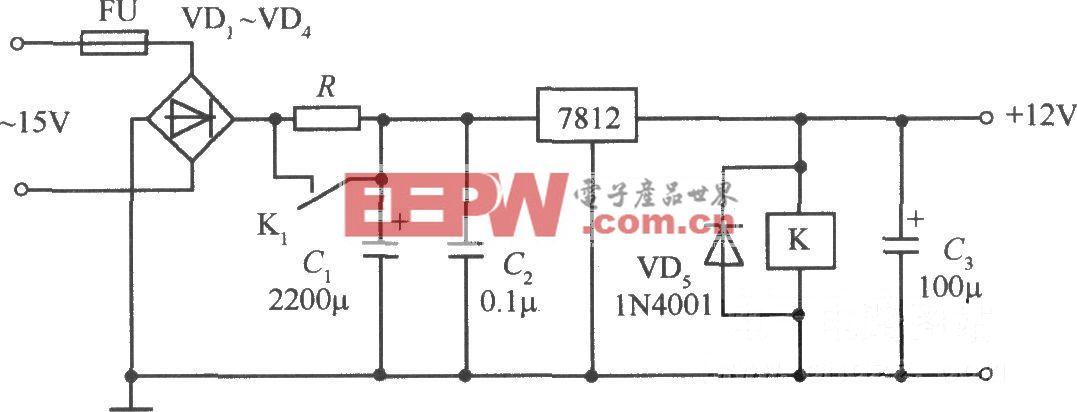 采用继电器等构成的启动电路