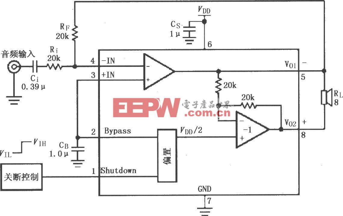 LM4819音频功率放大电路